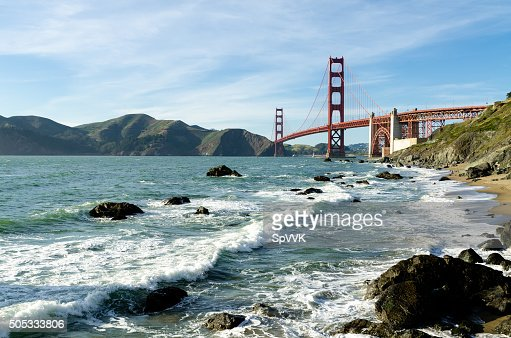 Golden Gate Bridge landmark in San Francisco California USA : Stock Photo