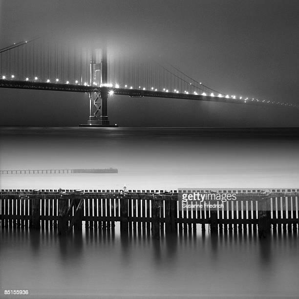Golden Gate Bridge on a Foggy Night