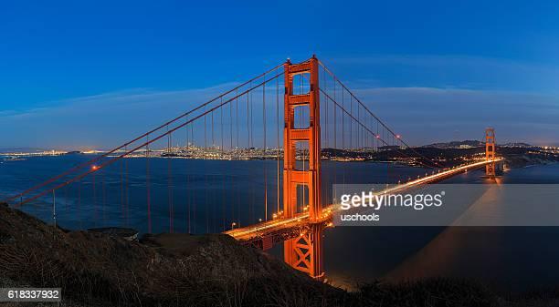 Golden Gate Bridge over San Francisco Panorama