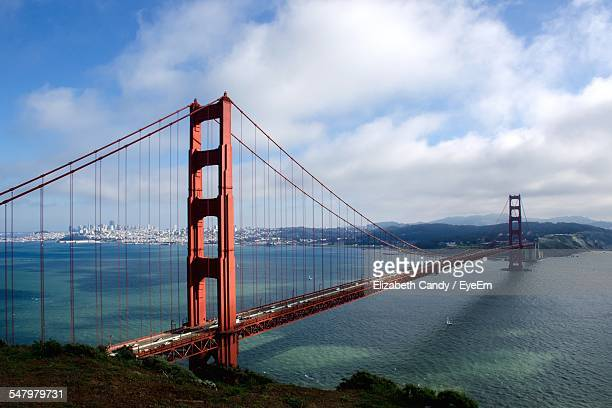 Golden Gate Bridge Over Sea Against Sky
