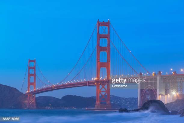 Golden Gate Bridge San Francisco blaue Dämmerung