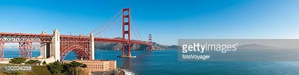 Golden Gate Bridge San Francisco Bay Fort Point Presidio panorama