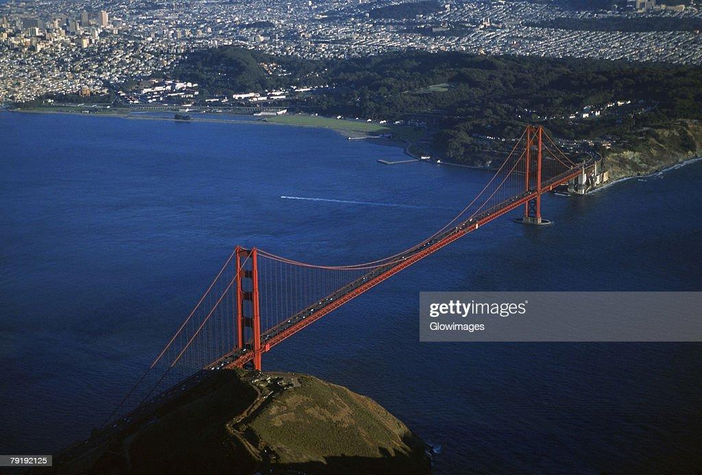 Golden Gate Bridge, San Francisco, California, Aerial view : Foto de stock