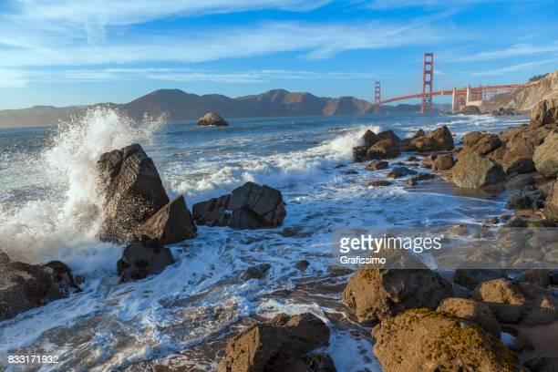 Golden Gate Bridge San Francisco Panorama mit blauem Himmel