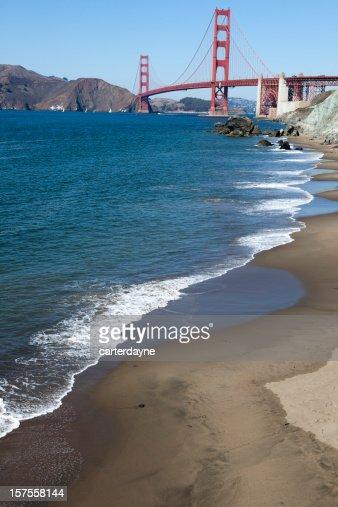 Golden Gate Bridge, cenas do San Francisco, Califórnia, EUA