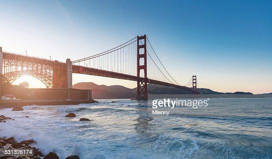 Golden Gate Bridge Sunset Panorama San Francisco