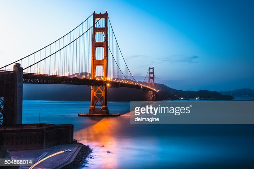 Golden Gate Bridge twilight, San Francisco Bay