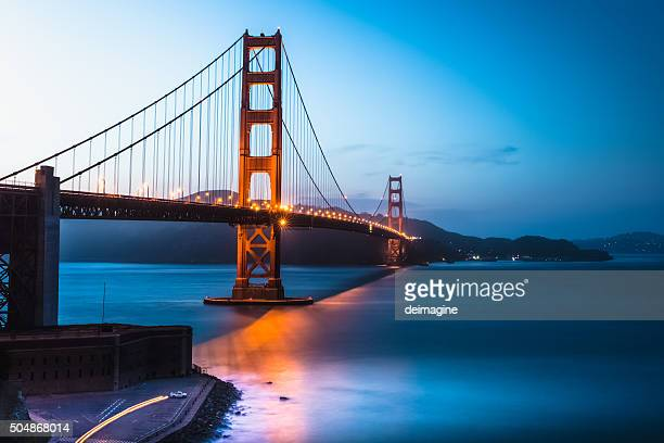 Pont du Golden Gate, San Francisco Bay au crépuscule, twilight