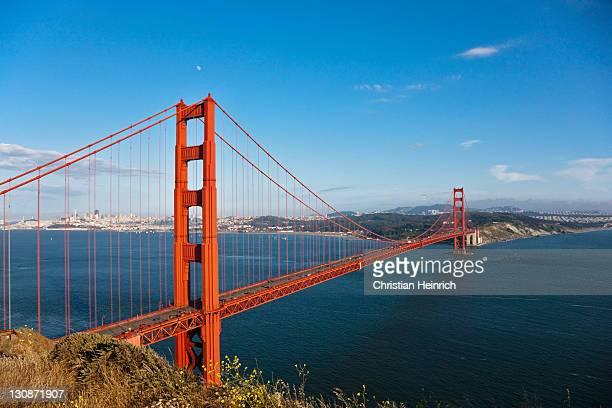 Golden Gate Bridge with San Francisco, California, USA, America