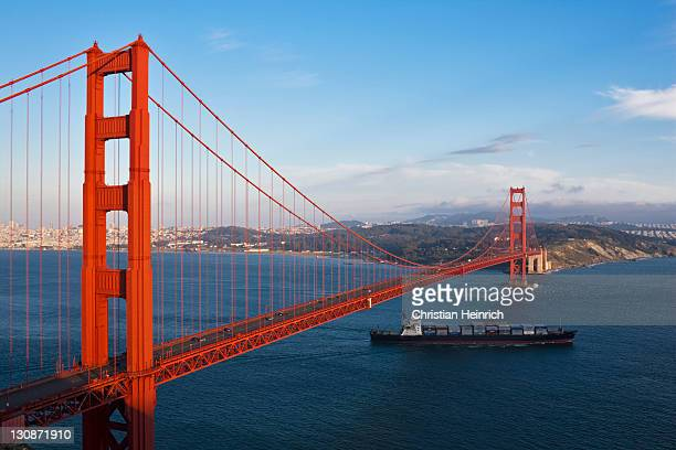 Golden Gate Bridge with San Francisco, California, USA, America