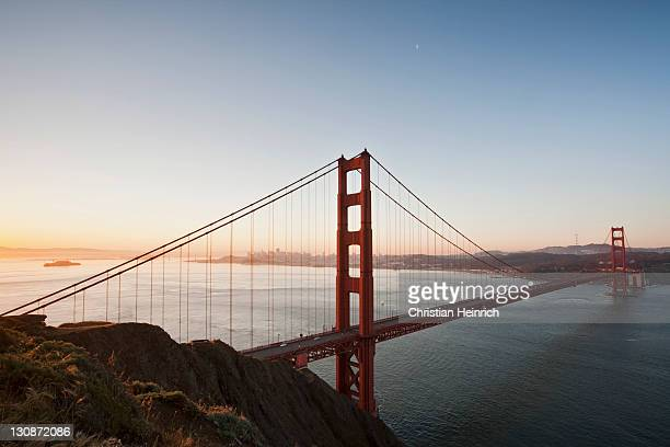 Golden Gate Bridge with San Francisco in the morning, California, USA, America