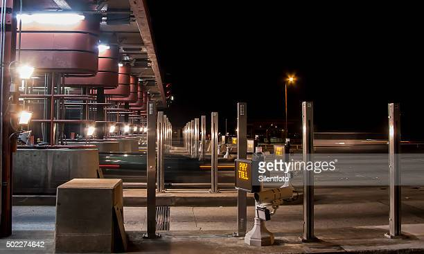Golden Gate Toll Plaza at Night