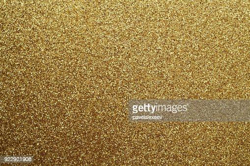 Golden glittering background. : Stock Photo
