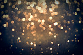 golden glittering bokeh background