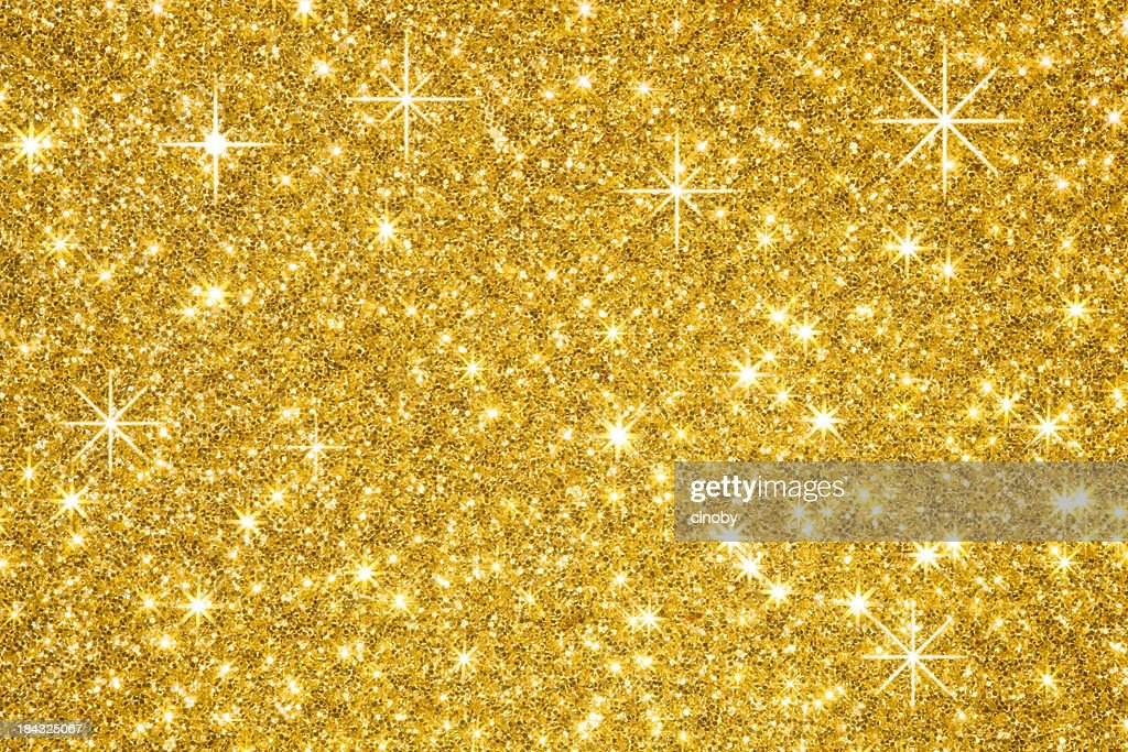 Golden Glitters Background : Stock Photo
