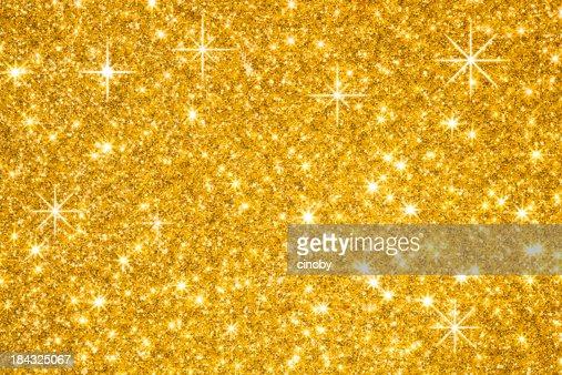 ゴールドのグリッター背景