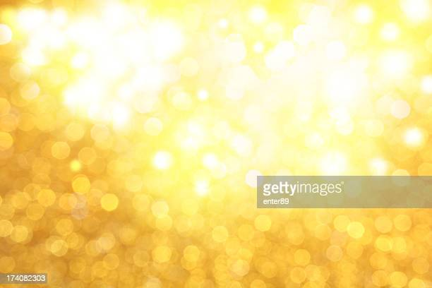 Golden glittery lights