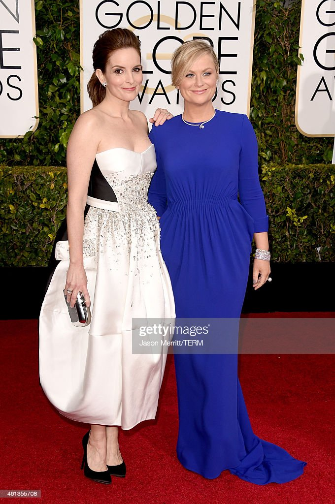 Golden Globe Hosts and Actresses Tina Fey and Amy Poehler attend the 72nd Annual Golden Globe Awards at The Beverly Hilton Hotel on January 11 2015...