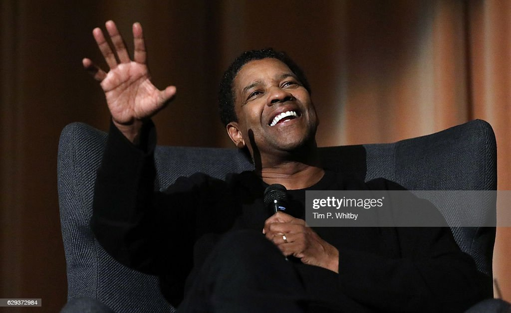 Golden Globe Nominee Denzel Washington attends a Q and A for 'Fences' at The Curzon Mayfair on December 12, 2016 in London, England.