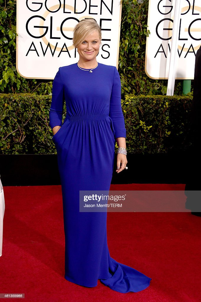 Golden Globes Host and Actress <a gi-track='captionPersonalityLinkClicked' href=/galleries/search?phrase=Amy+Poehler&family=editorial&specificpeople=228430 ng-click='$event.stopPropagation()'>Amy Poehler</a> attends the 72nd Annual Golden Globe Awards at The Beverly Hilton Hotel on January 11, 2015 in Beverly Hills, California.