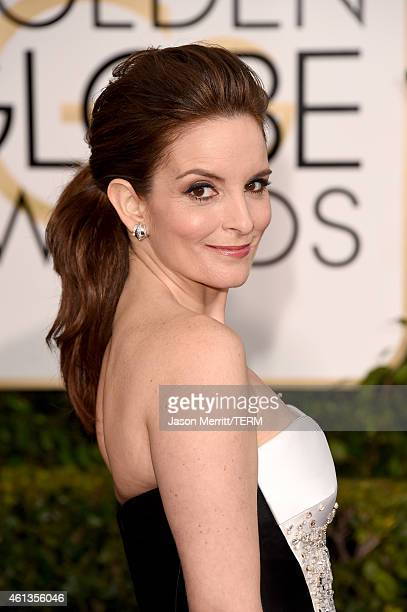 Golden Globes Host and Actress Tina Fey attends the 72nd Annual Golden Globe Awards at The Beverly Hilton Hotel on January 11 2015 in Beverly Hills...