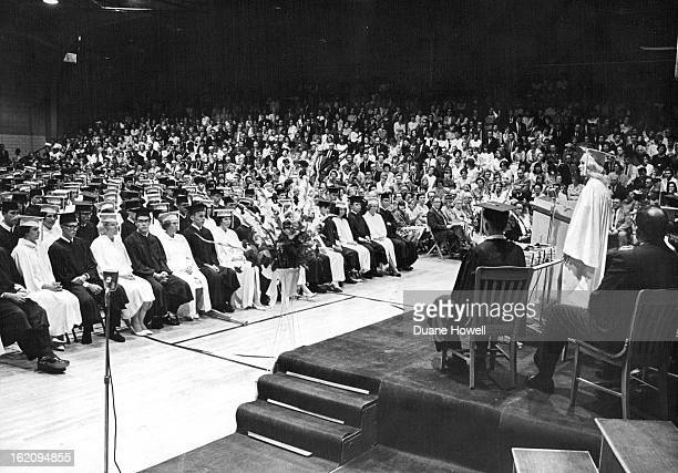 MAY 1965 JUN 2 1965 JUN 3 1965 Golden High Graduates 226 Seniors Senior Terrie Elliott is on the podium during commencement exercises Wednesday night...