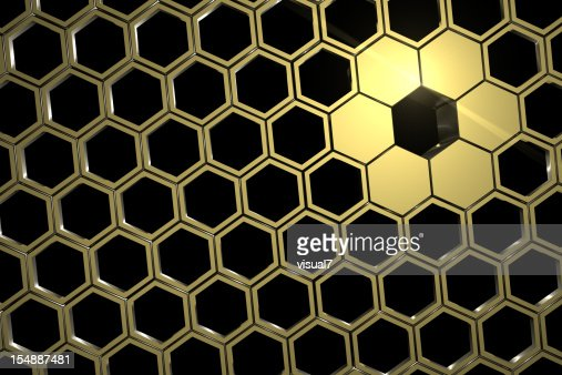 golden honeycomb mesh : Stock Photo