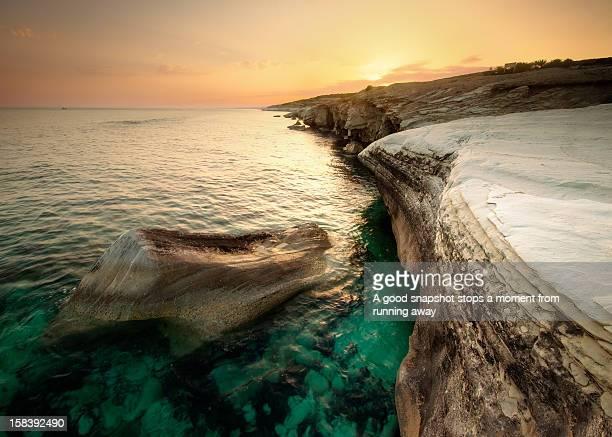 Golden hour at Alamanos Beach