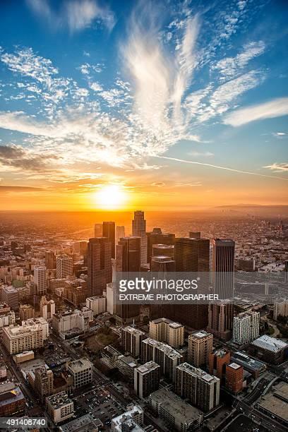 Golden heure de l'aéroport de Los Angeles