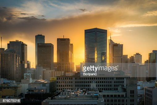 Golden Hour, Melbourne : Stock Photo