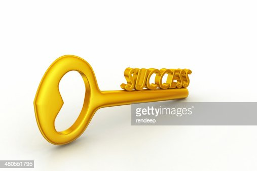 golden Key to success : Stock Photo