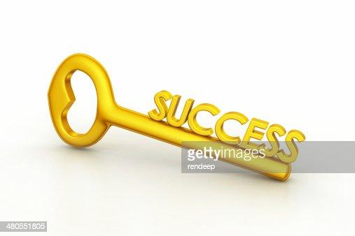 golden clave para el éxito : Foto de stock