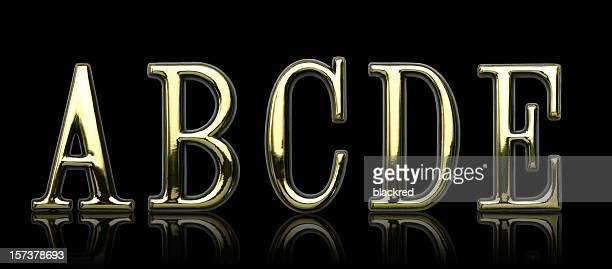 Golden Letters - A B C D E