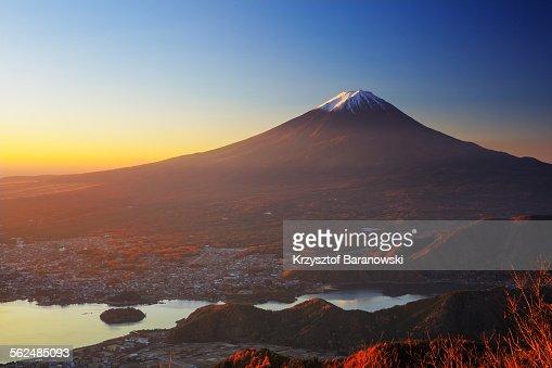 Golden Light Mt Fuji