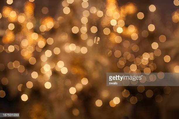 Golden lights defocused