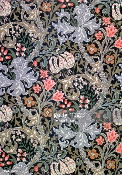 Golden Lily' wallpaper designed by John Henry Dearle for Morris and Company 1897