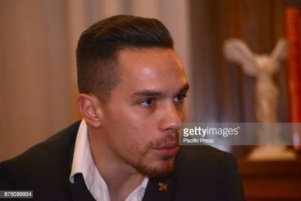 MANSION ATHENS ATTIKI GREECE Golden medalist of rings Lefteris Petroulias during his meeting with the President of Hellenic Republic Prokopis...