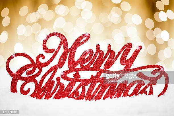 ゴールドのメリークリスマスカード