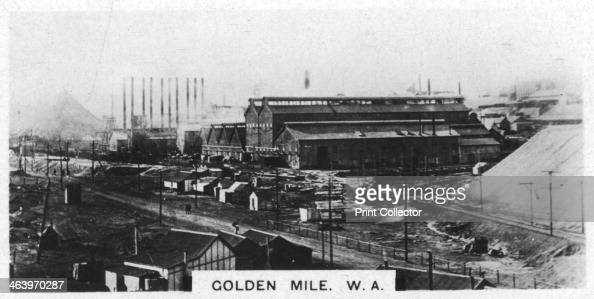 Golden Mile Western Australia 1928 Area of Kalgoorlie often referred to as the Golden Mile because of the concentration of gold mines Cigarette card...