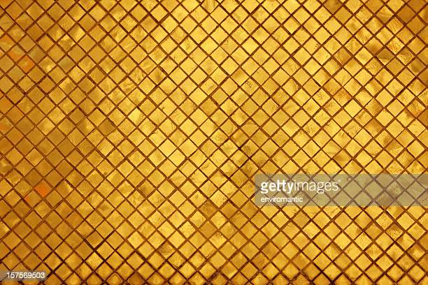 Golden mosaic tile in a Thailand temple
