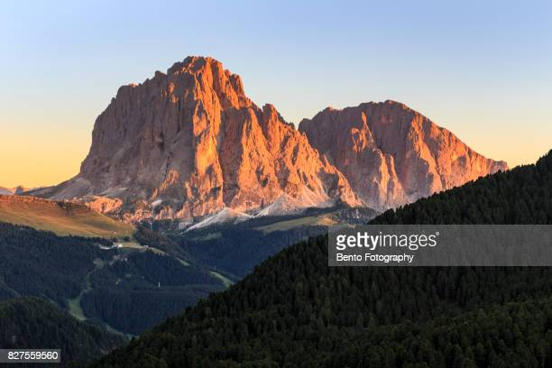 Golden mountain in secede, Dolomite, Italy