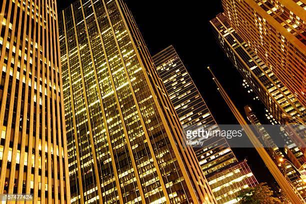 Golden NYC Manhattan Midtown Skyscrapers