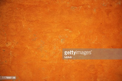 Golden orange grunge wall texture