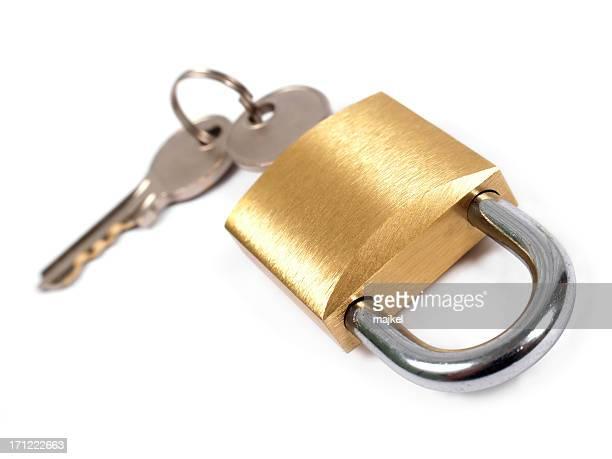Golden cadenas à clé-isolé