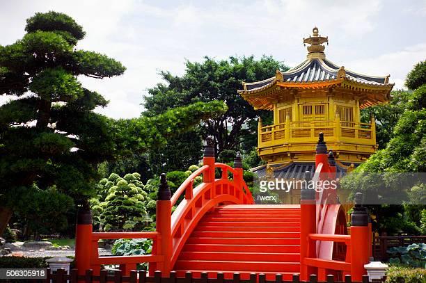 Golden Pavilion and Red Bridge
