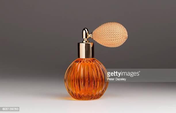 Golden perfume atomiser