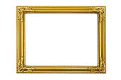 Golden Picture Frame (Clipping Path Included)