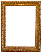 Golden Picture Frame (Clipping Paths – in and out – Included)