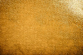 Texture of golden skin of reptile for decorative background.