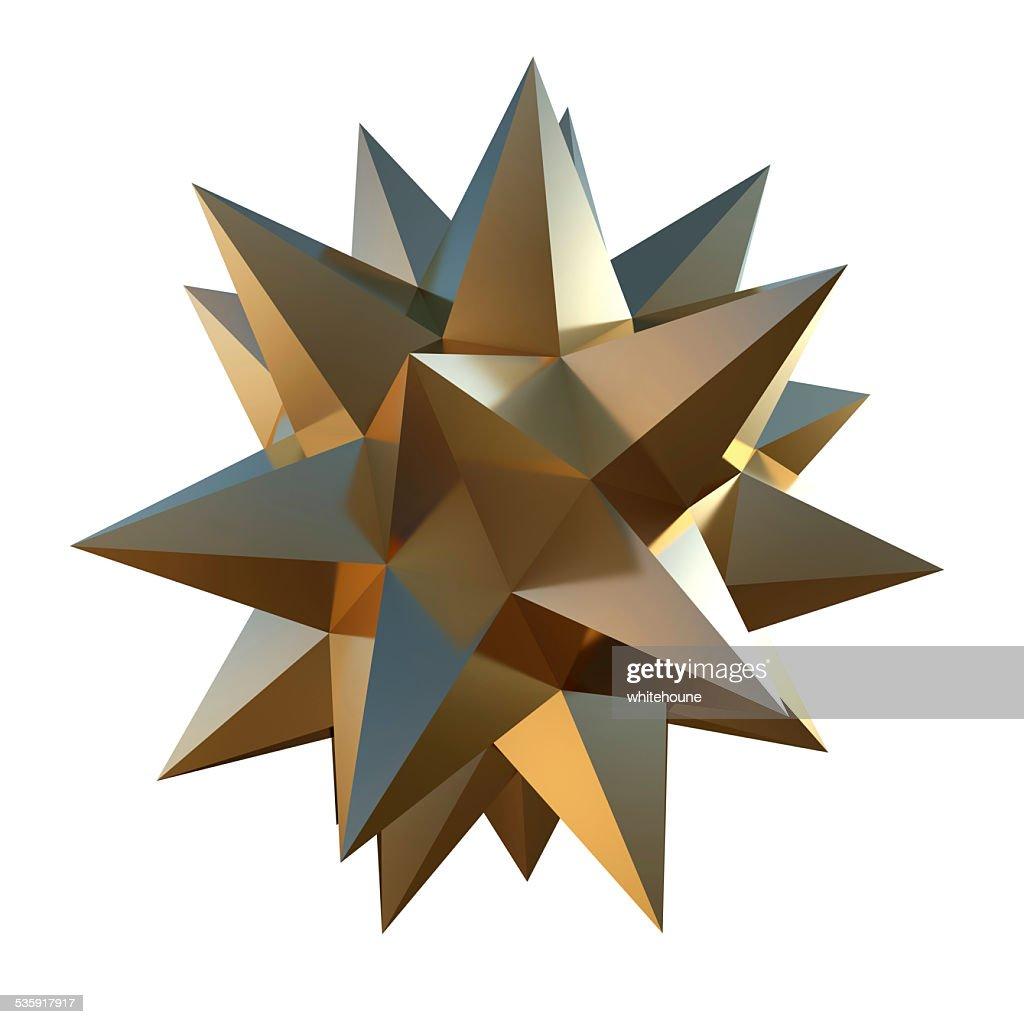 golden shape : Stock Photo